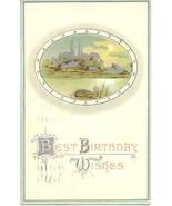 Best Birthday Wishes 1911 vintage Post Card  - $1.00