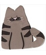 "Small Tabby Cat 1206s handmade clay button .5"" ... - $1.80"