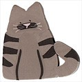 """Large Tabby Cat 1206L handmade clay button 1"""" JABC Just Another Button Co"""