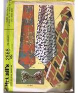 McCall's 2568 - 1970's Mens Neckties and Bow Ti... - $3.00