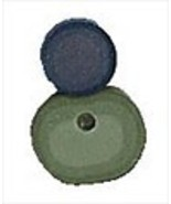 "Small Green Spider 1209s handmade clay button .5"" JABC Just Another Butt... - $1.40"