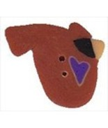 "Small Judy's Cardinal 1212s handmade clay button .5"" JABC Just Another B... - $1.40"