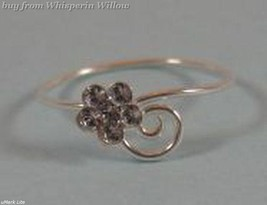 Wrap Design Toe Ring with Clear Crystal Flower - $9.99