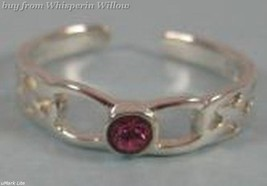 Celtic Design Toe Ring with Pink Crystal - $11.95