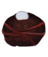 "Medium Bird Nest 1214m handmade clay button .75"" JABC Just Another Butto... - $1.60"