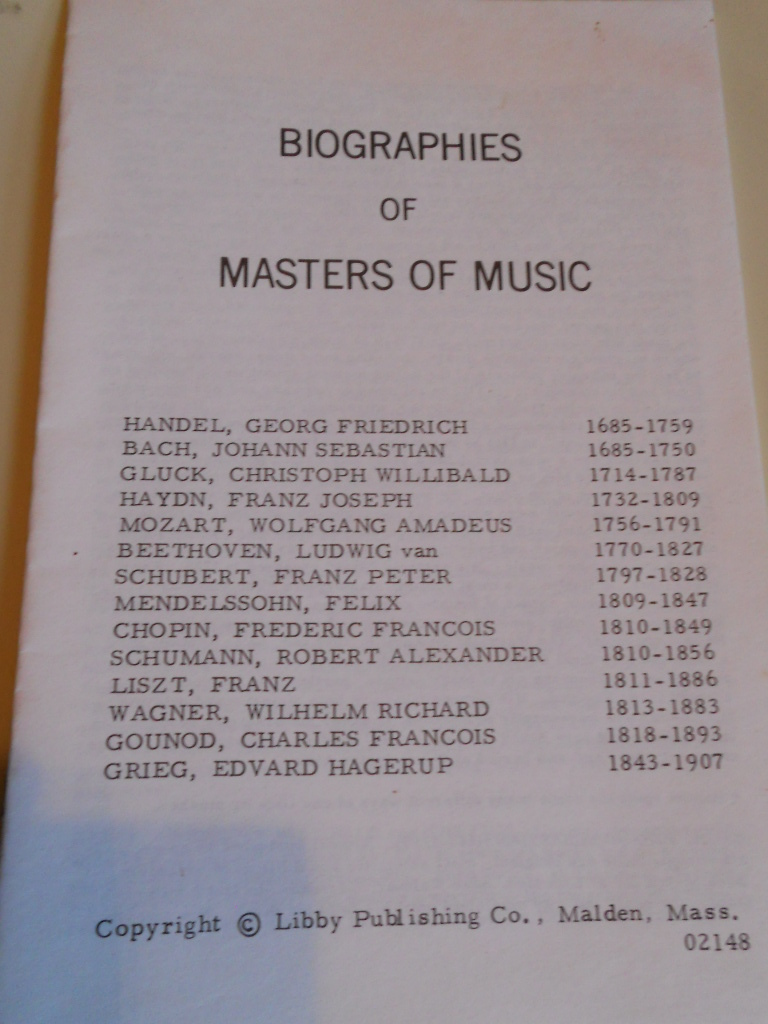 Bios of composer s  libby publ
