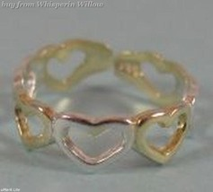 Sterling Silver and 14 Karat Gold Plated Heart Toe Ring - $11.99