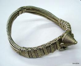 vintage antique ethnic tribal old silver armlet bracelet bajuband arm or... - $632.61