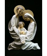 Holy Family Wall Plate Jesus Joseph Mary Italian Catholic Statue Made in... - $49.95