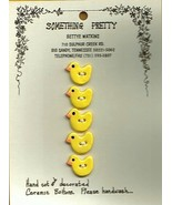 Handmade Ceramic Buttons  -Little yellow Puddle Ducks - $10.00
