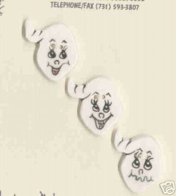 Decorative Ceramic Buttons -3 Sweet Little Goasts