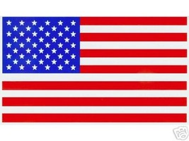 """AMERICAN FLAG VINYL DECALS - PACKAGE OF 20 -  Size: 2 1/4"""" x 4"""" U.S. Flag Decals image 4"""