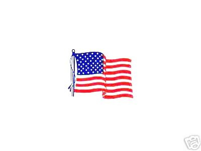 AMERICAN FLAG STATIC DECALS - Package of 10 High Quality U.S. FLAG DECALS - TEN