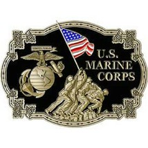 United States American USMC IWO JIMA Belt Buckle - $18.76