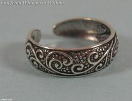 Oxidized Celtic Floral Design Toe Ring - $14.99