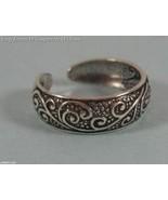 Oxidized Celtic Floral Design Toe Ring - $14.99