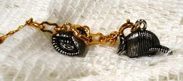 Joan Rivers Noah's Ark Armadillo Charm Set Silvertone Couple Pair Extend... - $50.00