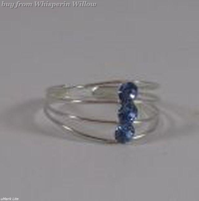 Open wire design blue crystal 1