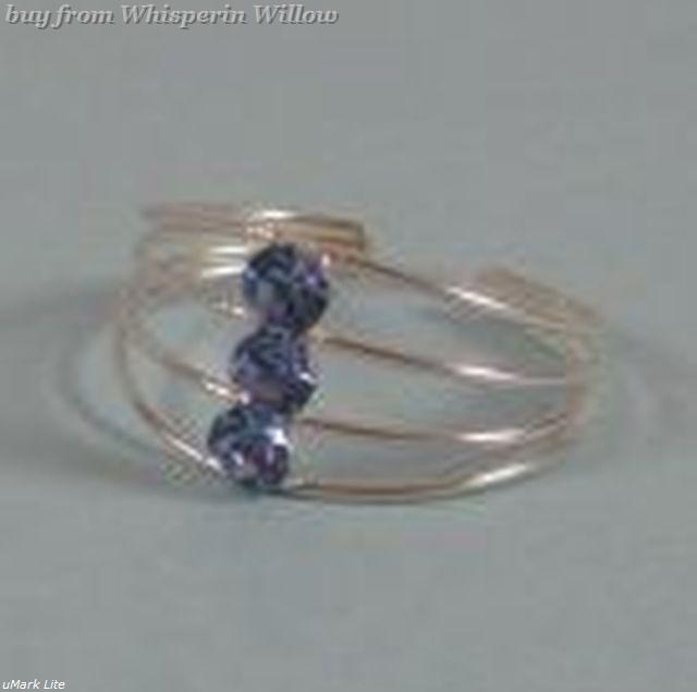 Open Wire Design with Crystal Toe Ring