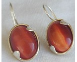 Orange cat eye earrings lh thumb155 crop
