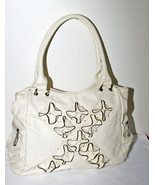 Handbag Winter White Color Off White Satchel Ru... - $24.00