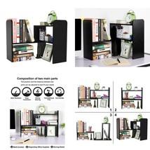 Pag Desktop Bookshelf Adjustable Countertop Bookcase Office Supplies Woo... - $33.96