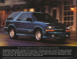 2001 Chevrolet BLAZER XTREME sales brochure sheet 01 Chevy S-10 - $8.00