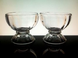 Glass Ice Cream Sundae Bowls Dessert Libbey  5118 Lot of 2  - $9.99