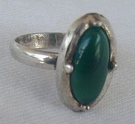Green oval ring