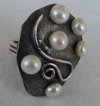 6 white pearls ring - $36.00