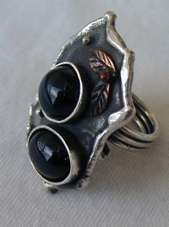 Black with stones a