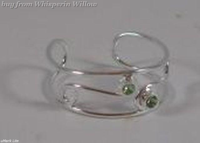 Polished Open Band Crystal Toe Ring