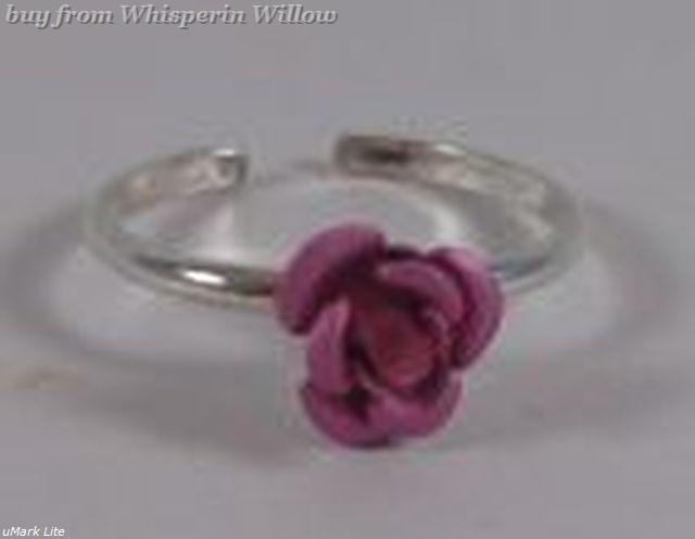 Pink Rose Toe Ring
