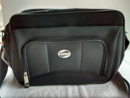 American tourister travel bag grey and black airplane carry on weekender - $23.36