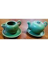 Green Vintage Child's Miniature Tea Set - $9.90
