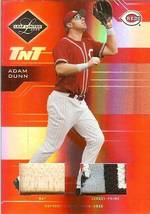 2005 leaf limited reds adam dunn game used bat prime jersey 60/100 image 1