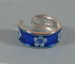 Blue Flower Epoxy Toe Ring - $10.99