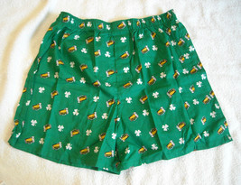 New with Tags Gap Boxer Shorts Medium 100% cotton green shamrocks beer mugs - $14.80