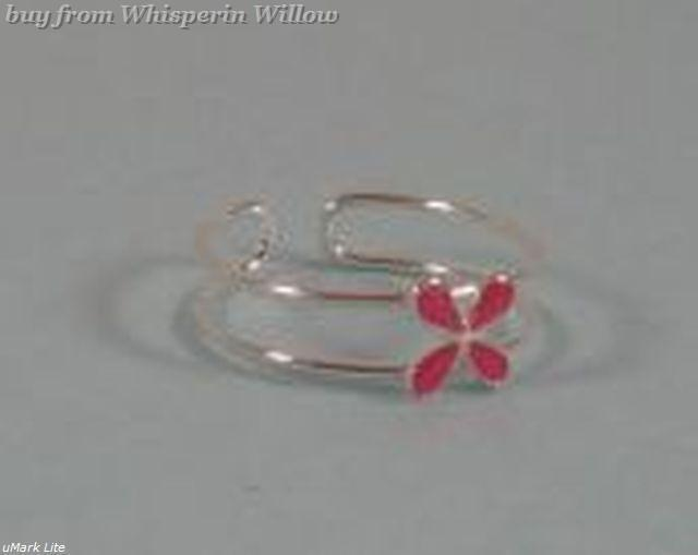 Pink Flower Toe Ring