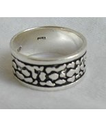Silver spots - unisex ring - $24.00