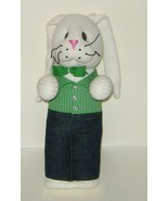 1/2 Price! Hand Crafted Standing White Sock Stuffed Bunny Rabbit  - $6.00