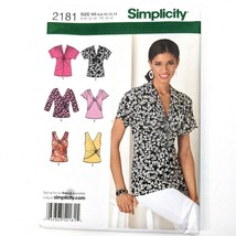Simplicity 2181 Sewing Pattern Knit Tops Sizes 6-14 Variations Sleeves F... - $12.19