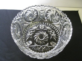 "Elegant Crystal Monica Pinwheel 8 1/2"" Three Fo... - $44.99"