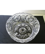 "Elegant Crystal Monica Pinwheel 8 1/2"" Three Footed Serving Bowl  - $44.99"