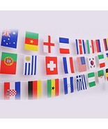82 Feet 8.2'' x 5.5'' International String Flags Banners, 100 Countries ... - $16.35