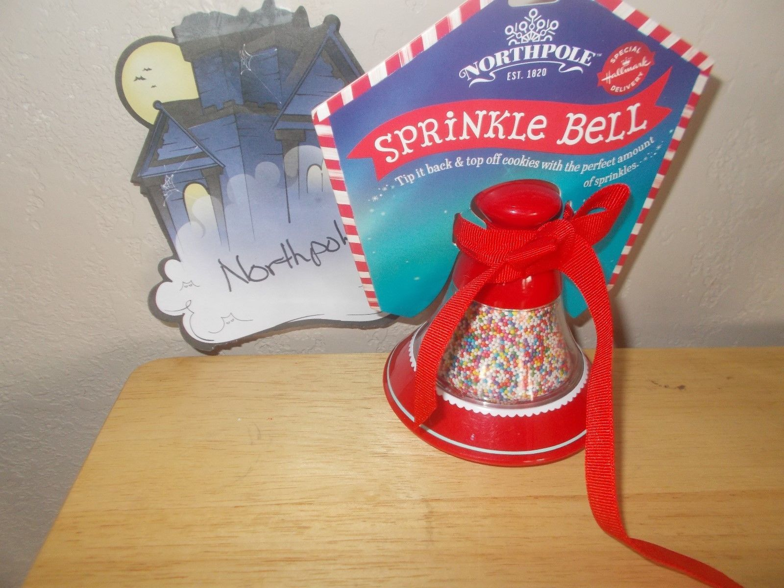 New! Hallmark the Northpole Sprinkle Bell, Cookie Sprinkles