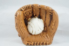 "RELPO Mitt Holding Baseball Ceramic Brown 5"" PLANTER BABY NURSERY HEAD VASE - €42,28 EUR"