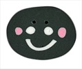 """Large Bee Happy Face 1221L handmade clay button .75"""" JABC Just Another Button Co"""