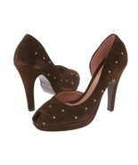 Type Z Aurora Brown Suede Womens 9 Shoes Heels Dress Pumps Platform Meta... - $30.95