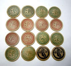 Lot of 16 Vintage 1970s Calif Numismatic Association NASC & CSNA Wooden ... - $11.75